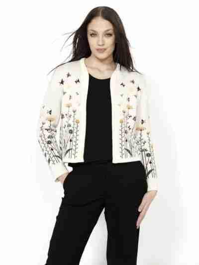 Mulesing-free merino wool jacket white