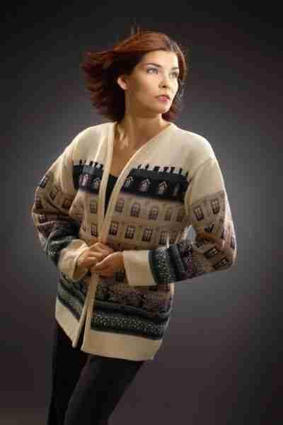 Knit merino wool jacket