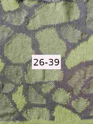 Luomupellava harmaa - vaalean vihreä