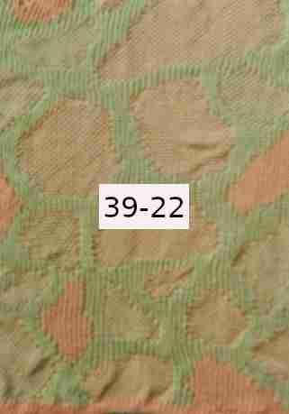 Luomupellava vaalean vihreä - persikka