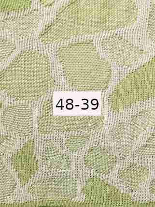 Luomupellava valkoinen - vaalean vihreä