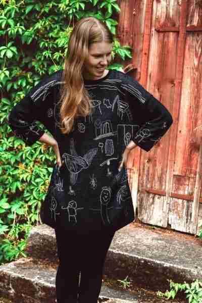 Linen tunic black