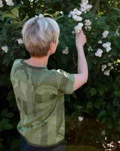 Garden pellavapusero vihreä